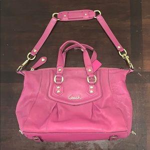 Ashley leather satchel Coach bag